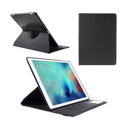 Jessen – Svart – iPad Pro 12.9 Avtagbar Smart Roterbart Ställ Läderfodral