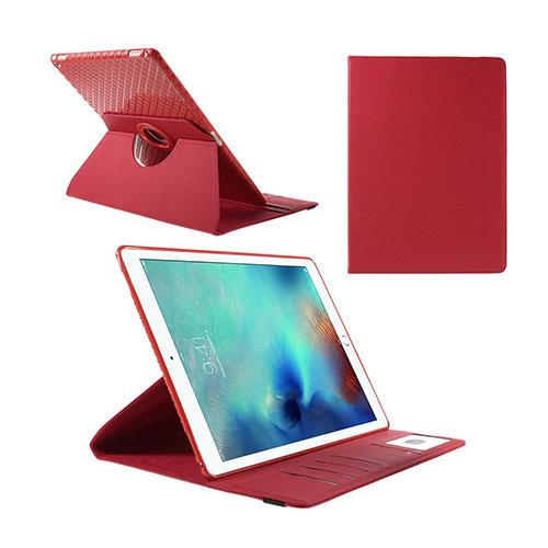 Jessen – Röd – iPad Pro 12.9 Avtagbar Smart Roterbart Ställ Läderfodral