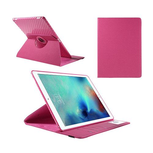 Jessen – Varm Rosa – iPad Pro 12.9 Avtagbar Smart Roterbart Ställ Läderfodral