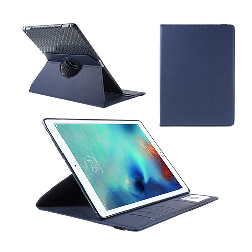 Jessen – Mörkblå – iPad Pro 12.9 Avtagbar Smart Roterbart Ställ Läderfodral