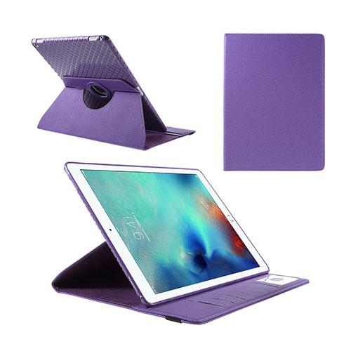 Jessen – Lila – iPad Pro 12.9 Avtagbar Smart Roterbart Ställ Läderfodral