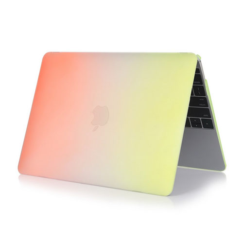 Rainbow Macbook 12-Inch Retina (2015) Case – Orange / Gul