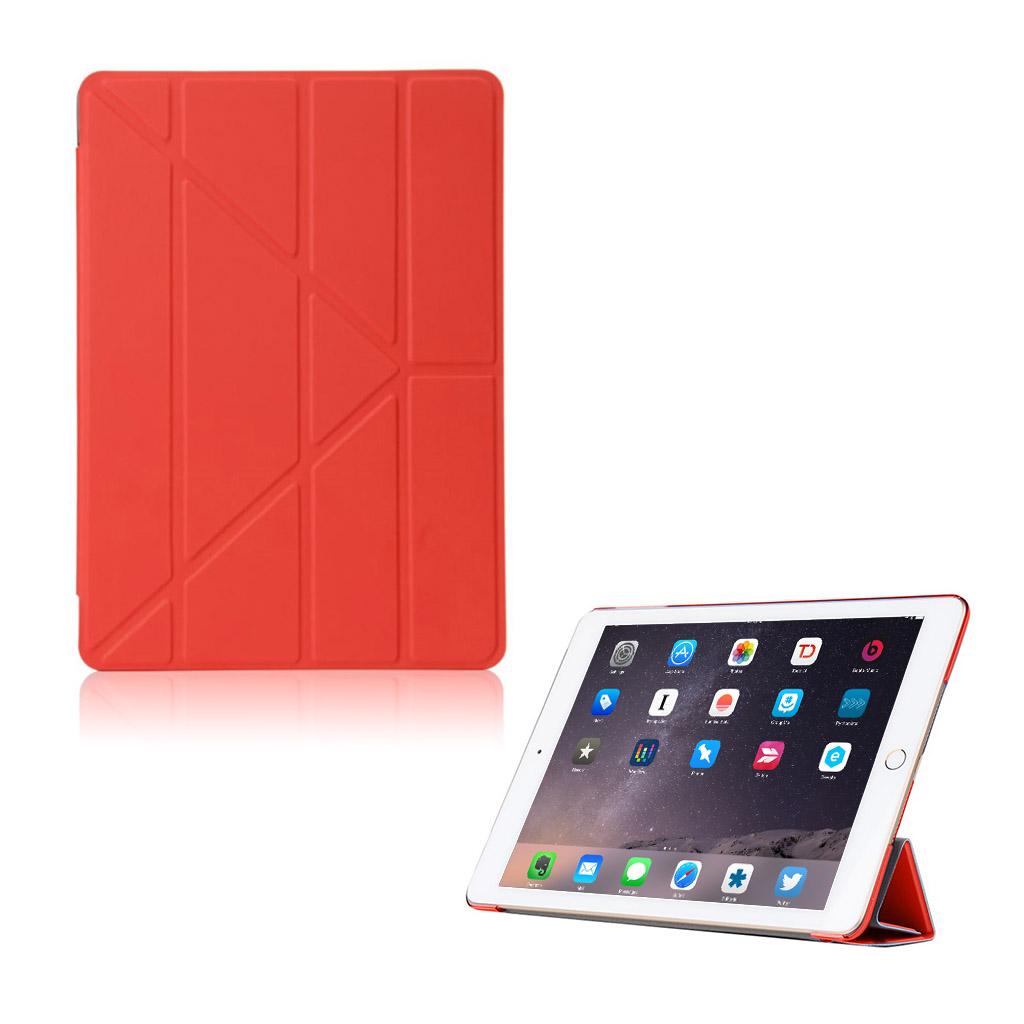 iPad (2017) origami läderfodral - Röd