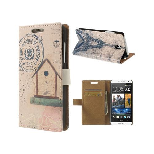 Nostalgic (Eiffel) HTC Desire 610 Läderfodral