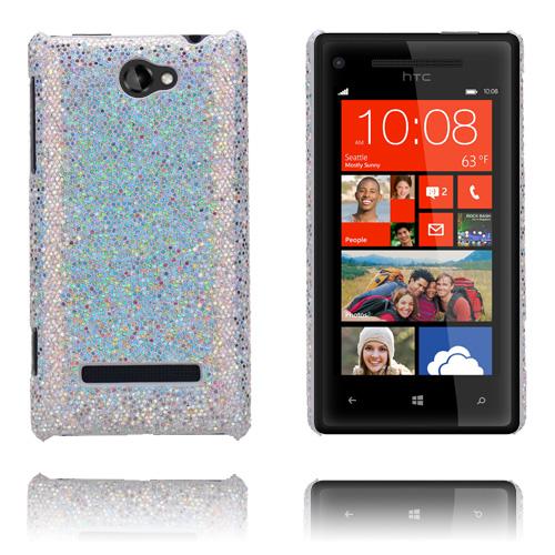 Glitter (Silver) HTC 8S Skal