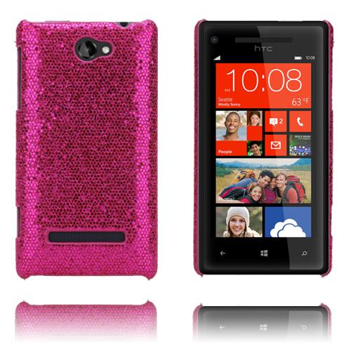 Glitter (Rosa) HTC 8S Skal