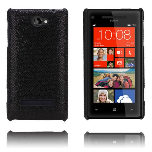 Glitter (Svart) HTC 8S Skal