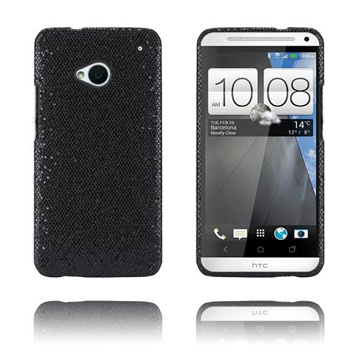 Glitter (Svart) HTC One Skal
