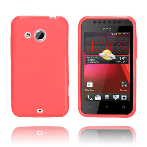 GelCase (Röd) HTC Desire 200 Skal