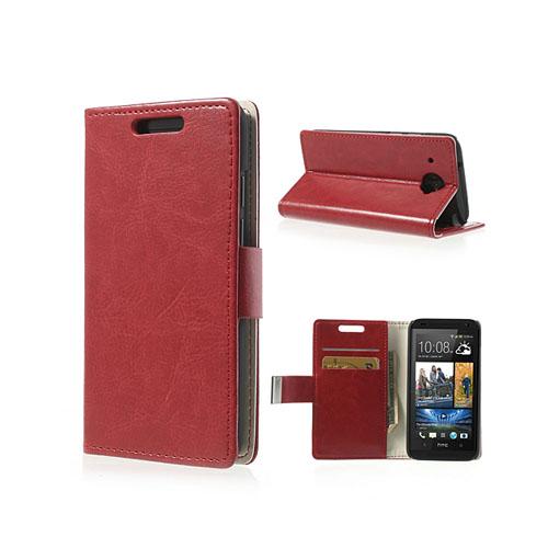 Wall Street (Röd) HTC Desire 601 Läderfodral