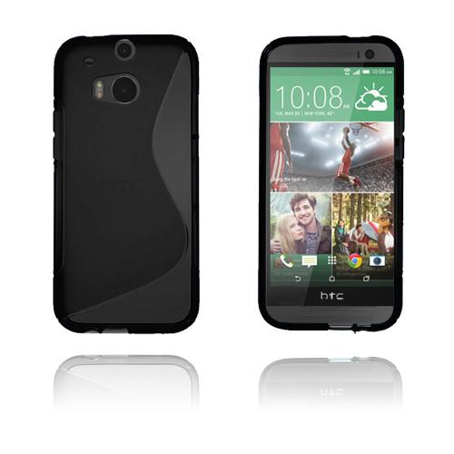 S-Line (Svart) HTC One (M8) Skal