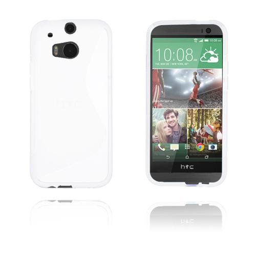 S-Line (Vit) HTC One (M8) Skal