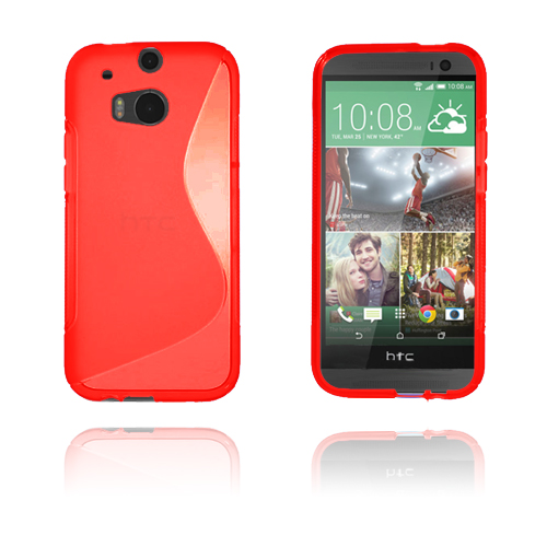 S-Line (Röd) HTC One (M8) Skal