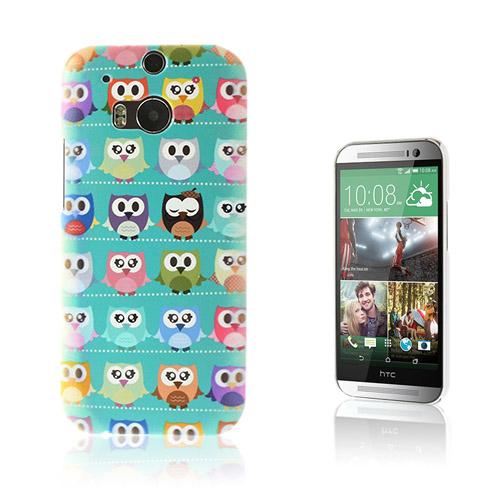 Trendy (Blå / Ugglor) HTC One M8 Skal