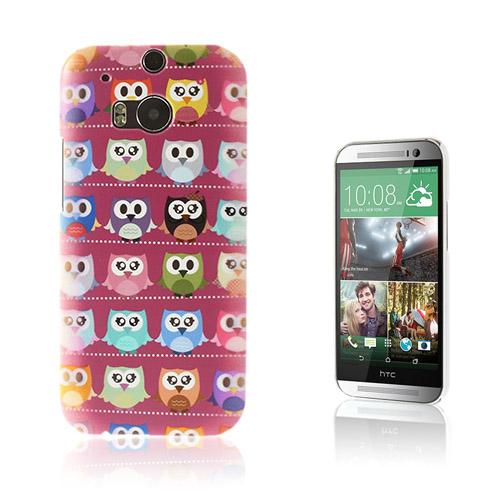 Trendy (Lila / Ugglor) HTC One M8 Skal