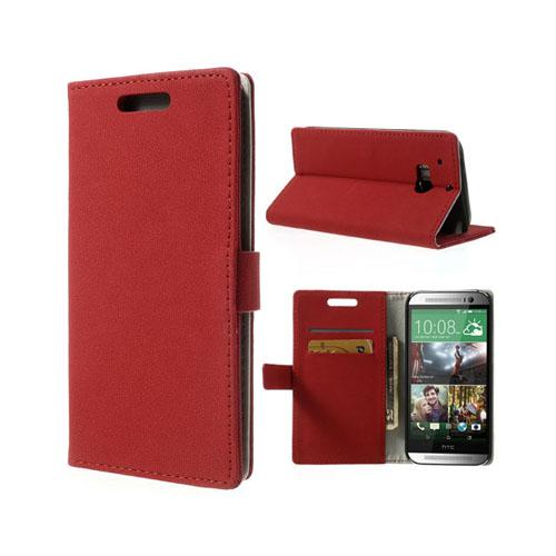 Crazy Paving (Röd) HTC One (M8) Läderfodral