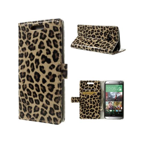 Leopard (Brun) HTC One (M8) Läderfodral