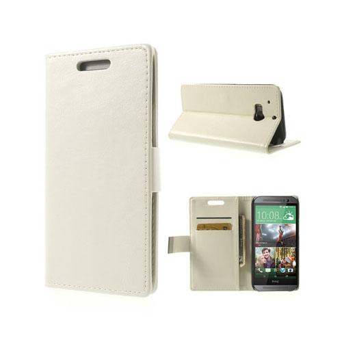 Business (Vit) HTC One (M8) Läderfodral