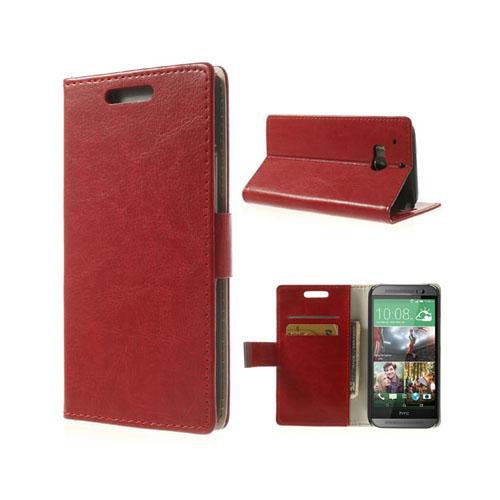 Business (Röd) HTC One (M8) Läderfodral