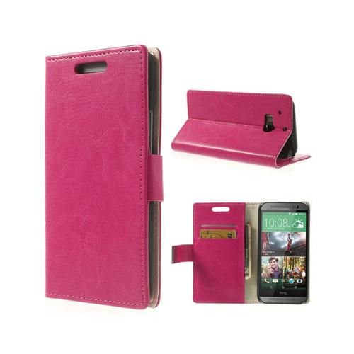 Business (Rosa) HTC One (M8) Läderfodral