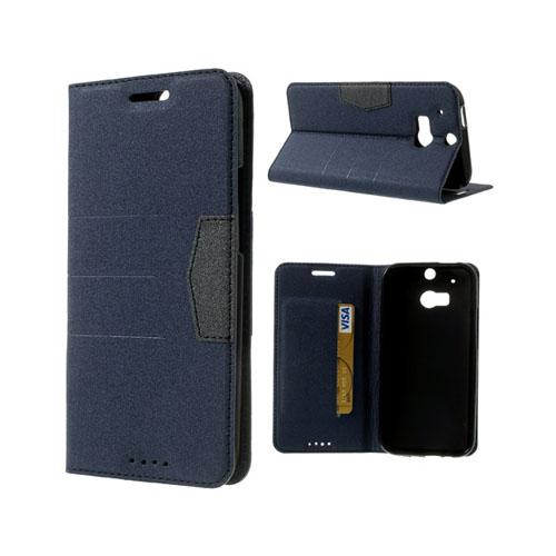 General (Mörkblå) HTC One (M8) Fodral
