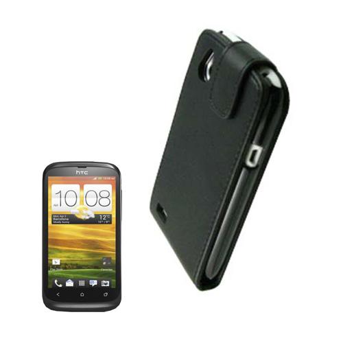 Beta (Svart) HTC Desire V Flip Fodral