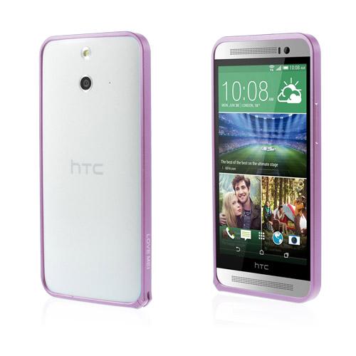 LOVE ME! (Lila) HTC One (E8) Metall-Bumper