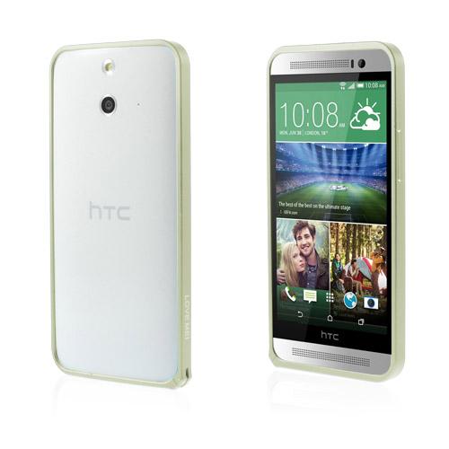 LOVE ME! (Grön) HTC One (E8) Metall-Bumper