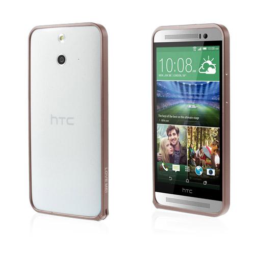 LOVE ME! (Kaffe) HTC One (E8) Metall-Bumper