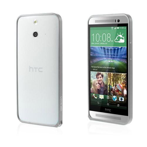 LOVE ME! (Grå) HTC One (E8) Metall-Bumper