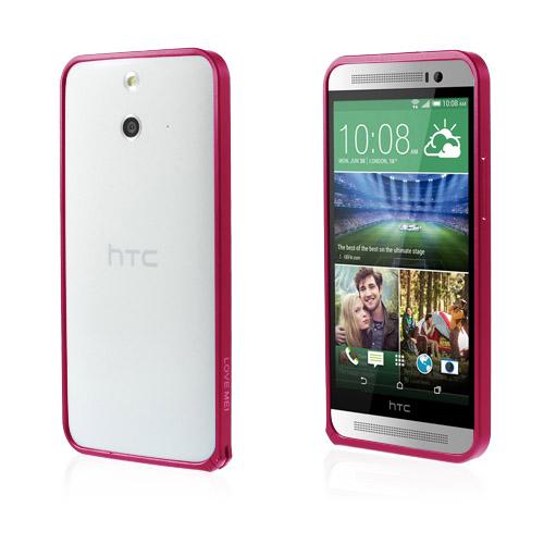 LOVE ME! (Knallrosa) HTC One (E8) Metall-Bumper