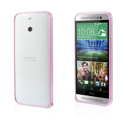 LOVE ME! (Rosa) HTC One (E8) Metall-Bumper