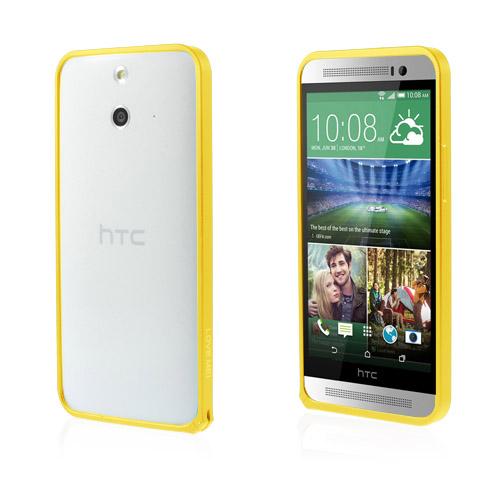 LOVE ME! (Guld) HTC One (E8) Metall-Bumper