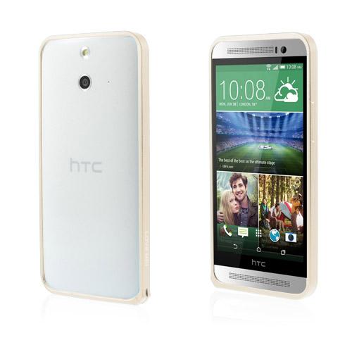 LOVE ME! (Champagne Guld) HTC One (E8) Metall-Bumper