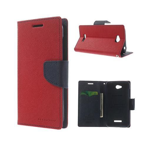 Migrcury (Röd) HTC Desire 616 Läder Flip Fodral