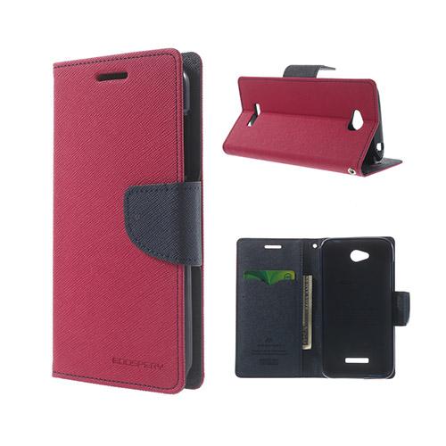 Migrcury (Het Rosa) HTC Desire 616 Läder Flip Fodral