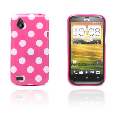Prickar (Het Rosa / Vit) HTC Desire V Skal