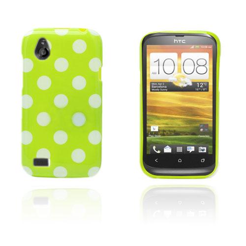 Prickar (Grön / Vit) HTC Desire V Skal
