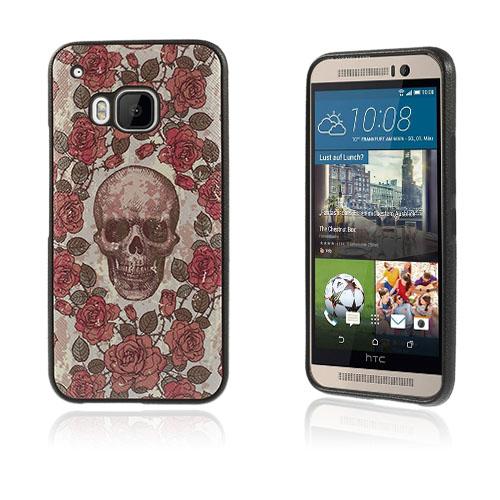 Westergaard HTC One M9 Skal – Blommor och Skalle