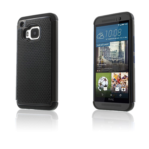 Fotboll HTC One M9 Skal – Svart