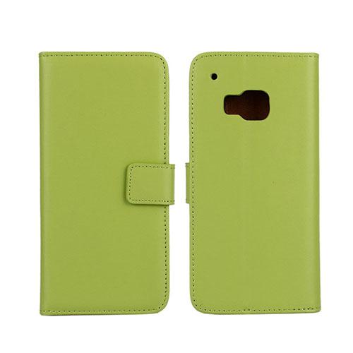 Lönnrot (Grön) HTC One M9 ÄKTA Läder Plånbok Fodral