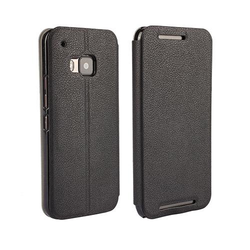 Kvist HTC One M9 Läder Stativ Fodral – Svart