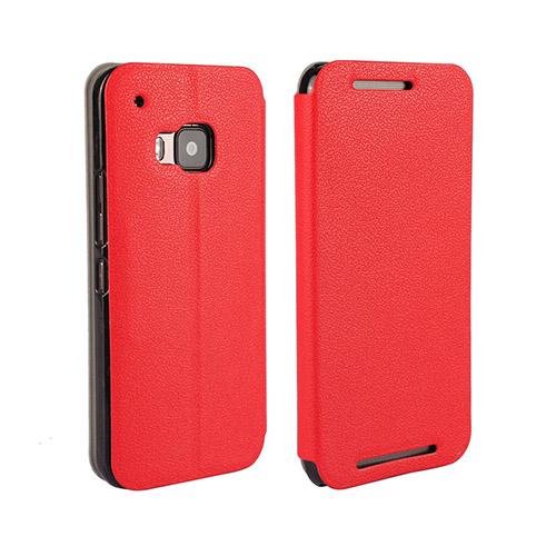 Kvist HTC One M9 Läder Stativ Fodral – Röd