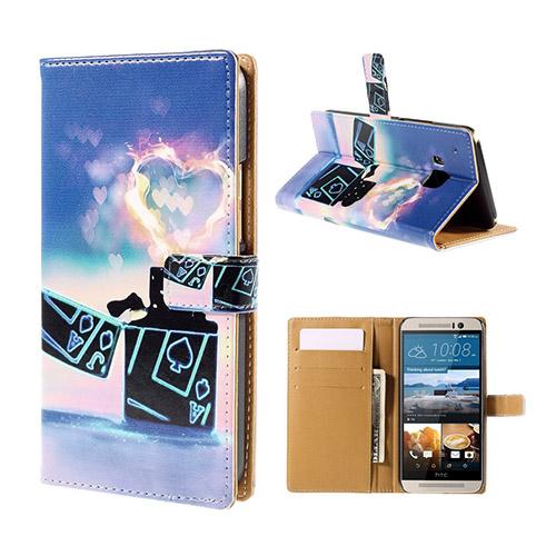 Moberg HTC One M9 Läder Fodral med Plånbok – Poker Cigarett