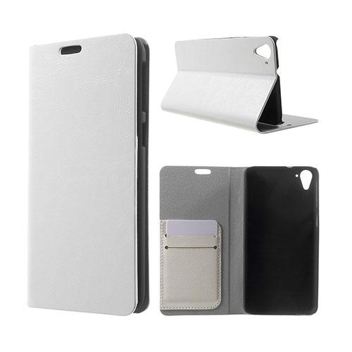 Mankell (Vit) HTC Desire 826 Läder Fodral Med Korthållare
