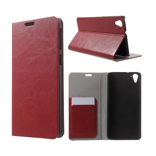 Mankell (Röd) HTC Desire 826 Läder Fodral Med Korthållare
