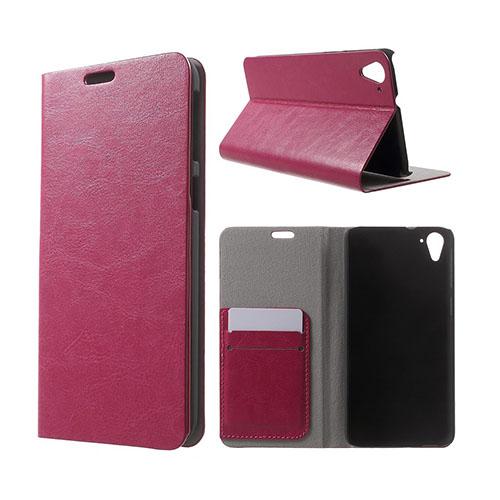 Mankell (Het Rosa) HTC Desire 826 Läder Fodral Med Korthållare