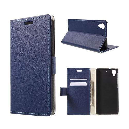 Garborg HTC Desire 626 Läder Fodral – Mörkblå