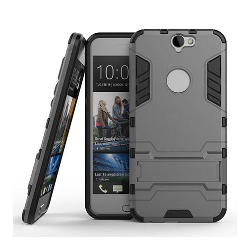 Hybrid HTC One A9 Silikon & Metall Skal – Grå