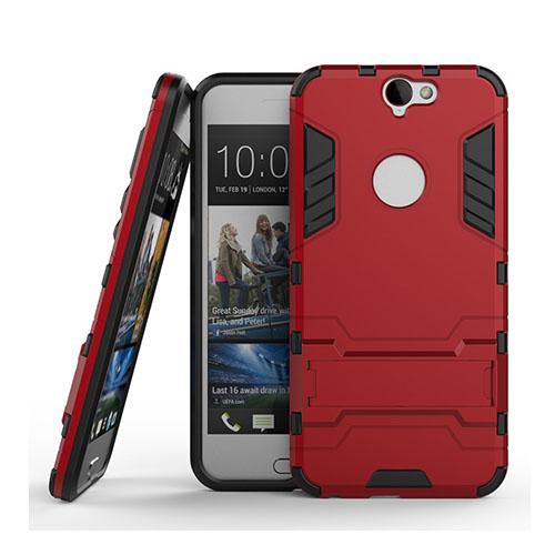 Hybrid HTC One A9 Silikon & Metall Skal – Röd